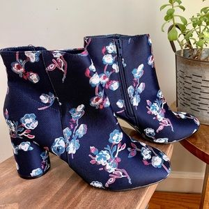 Urban Outfitters Floral Ankle Bootie